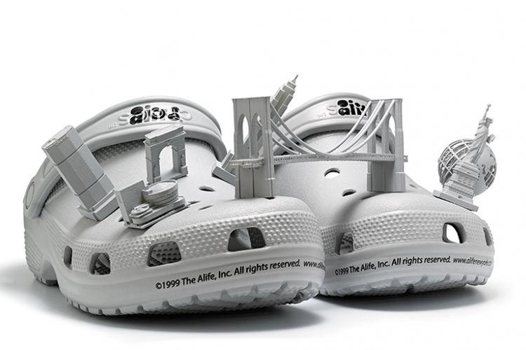 Crocs x Alife dengan model 3D Kota New York