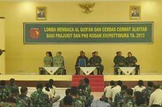 Prajurit TNI Ikut Lomba Baca Al Quran dan Cerdas Cermat Alkitab