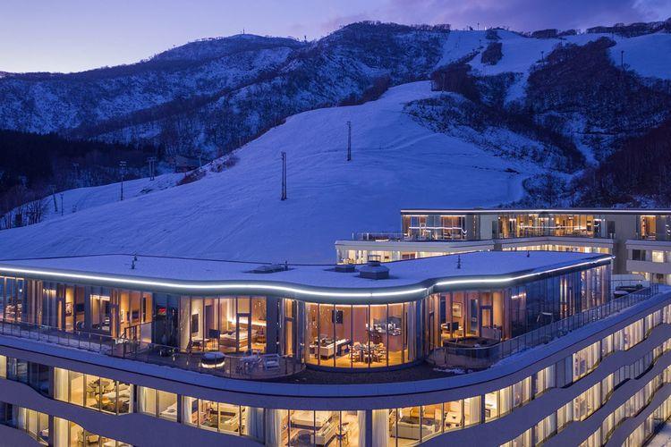 Skye Niseko, resor ski di Hokkaido, Jepang.
