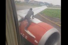 Ingin Pergi ke Ghana, Seorang Pria Panjat Mesin Pesawat yang Hendak Terbang