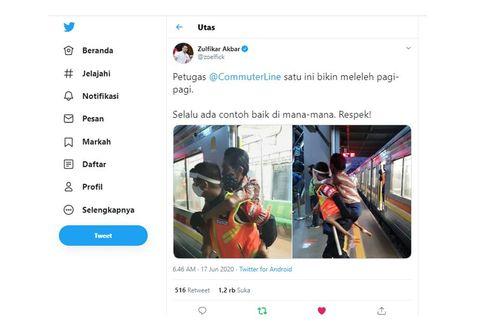 Viral Foto Petugas KRL Gendong Penumpang Difabel, Ini Kisahnya