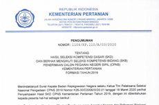 Hasil SKD CPNS Kementan Diumumkan, 1.371 Pelamar Lulus