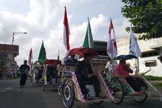 Hari Amal Bhakti, Kemenag Jember Sewa 100 Becak untuk Transportasi