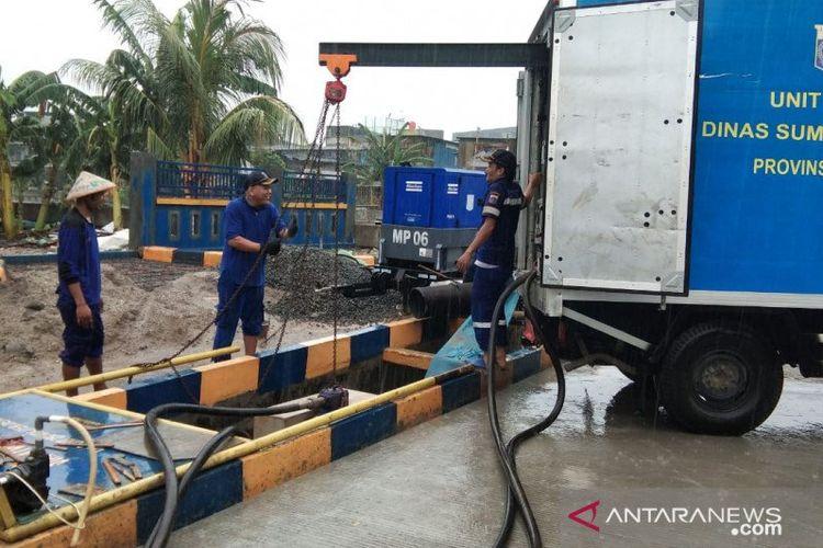 Salah satu pompa mobile di Jakarta Utara.