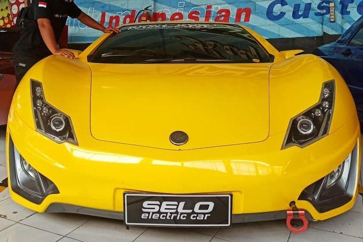 Ilustrasi mobil listrik Selo