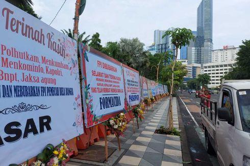 FPI Dibubarkan, Karangan Bunga Ucapan Terima Kasih Tersebar di Surabaya