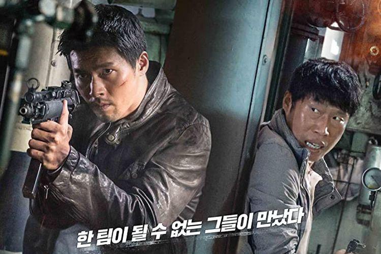 Poster film Confidential Assignment yang dibintangi oleh Hyun-Bin.