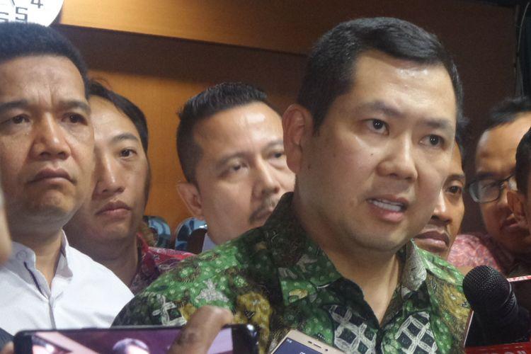 Hary Tanoesoedibjo (Hary Tanoe) saat di kantor Bareskrim Polri, Jakarta, Jumat (7/7/2017).