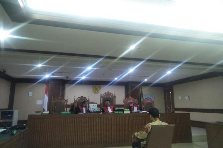 Sidang Putusan Mantan Direktur Utama PT Industri Telekomunikasi Indonesia (INTI) Darman Mappangara di Pengadilan Negeri Jakarta Pusat, Senin (2/3/2020)