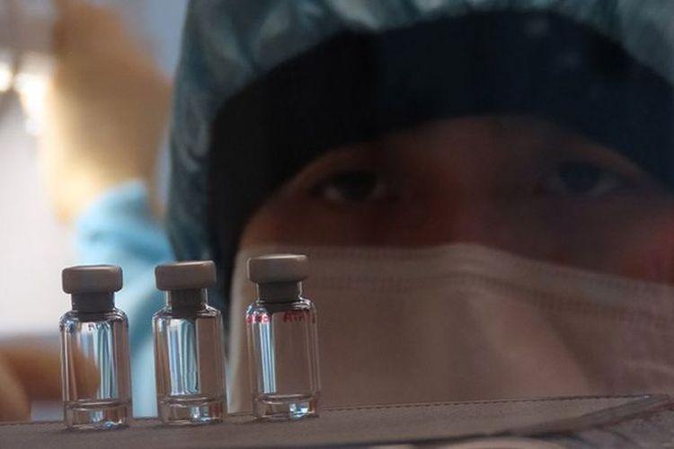 Ilustrasi vaksin Covid-19.