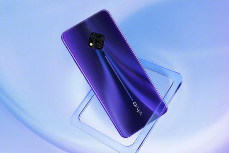 Penampakan Vivo S5 varian biru.