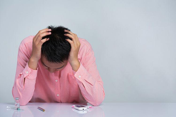 Ilustrasi stres dan diabetes