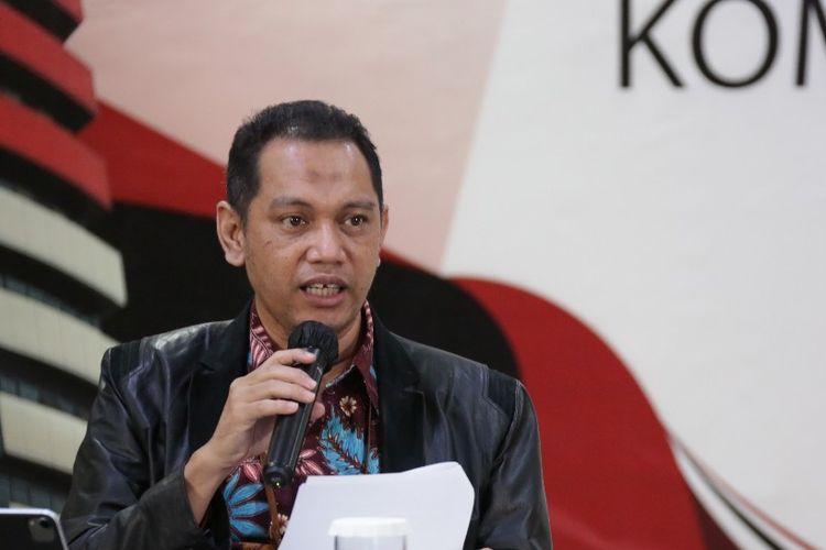 Wakil Ketua KPK Nurul Ghufron dalam konferensi Kinerja KPK Semester I 2020, Selasa (18/8/2020).