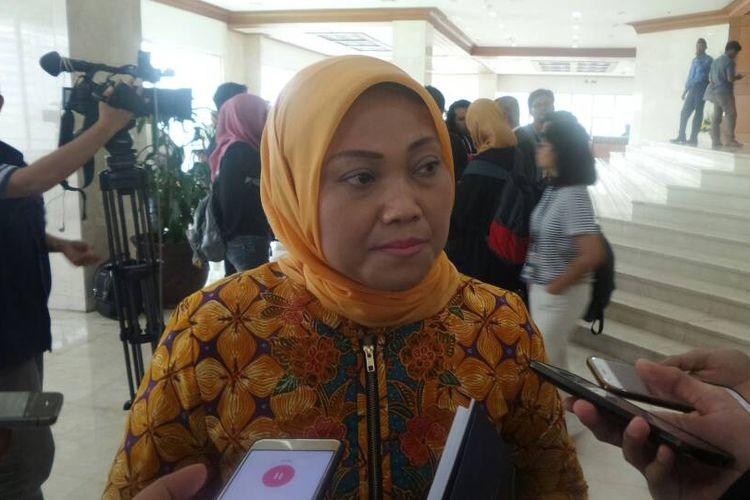 Ketua Fraksi Partai Kebangkitan Bangsa (PKB) Ida Fauziah di Kompleks Parlemen, Senayan, Jakarta, Jumat (19/5/2017).