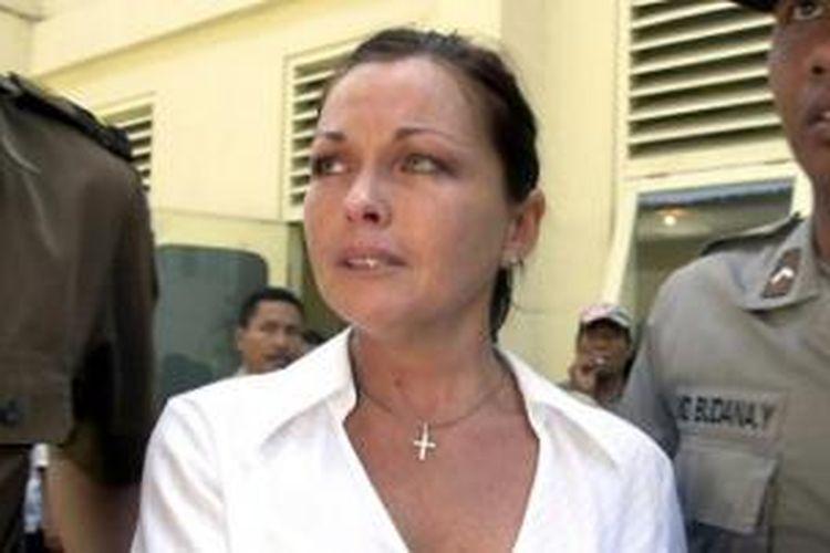 Schapelle Leigh Corby terpidana kasus penyelundupan narkotika yang kini masih menjalani hukumannya di LP Kerobokan, Bali.