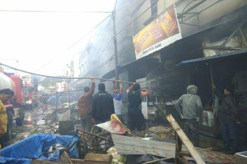 Kebakaran Hebat di Pasar Tradisional Berastagi, 535 Kios Ludes Terbakar