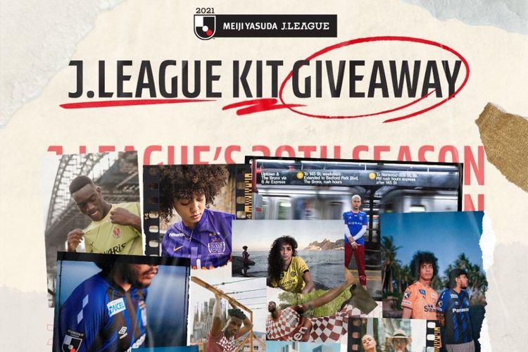 Giveaway jersey dari J-League, Liga Jepang.