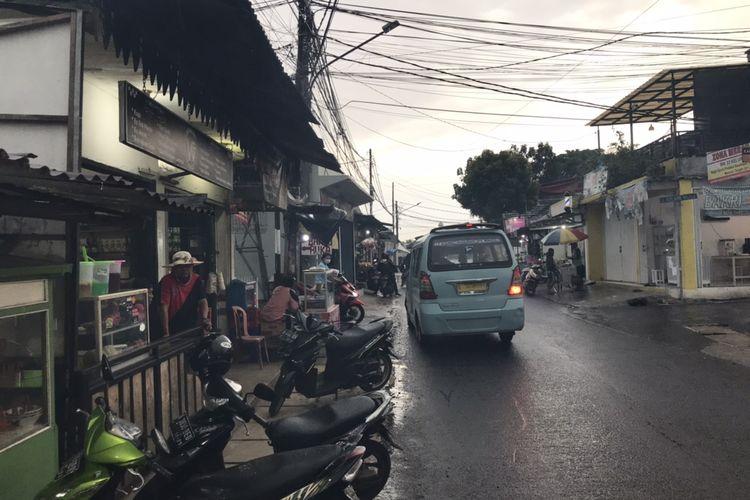 Lokasi warkop di Jalan Kelapa Hijau, Jagakarsa, Jakarta Selatan, tempat terjadinya penyerangan pada Kamis (15/4/2021) dini hari.