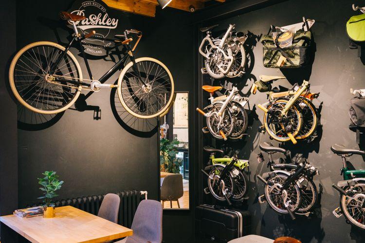 Images of folding bikes.