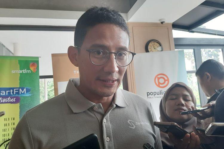 Sandiaga Uno di The Maj, Senayan, Jakarta, Sabtu (7/3/2020).