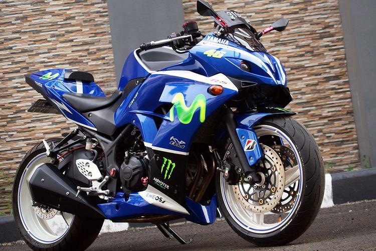 Limbah moge yang digunakan pada modifikasi motor sport