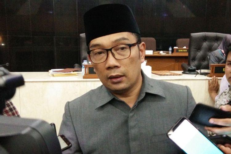 Gubernur Jawa Barat Ridwan Kamil saat ditemui di Gedung DPRD Jabar, Jalan Diponegoro, Kamis (13/12/2018).