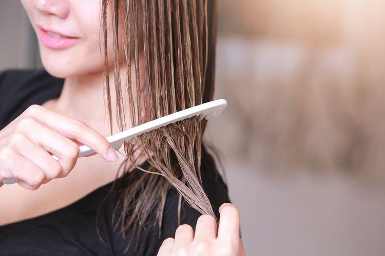 Ilustrasi rambut, menyisir rambut