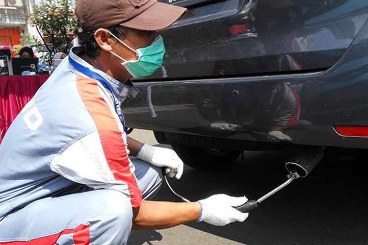 Uji emisi yang diadakan pemerintah kota Jakarta Utara