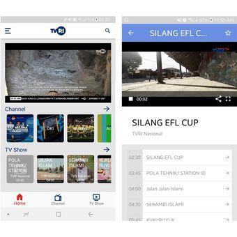 Ilustrasi aplikasi TVRI Klik di Play Store