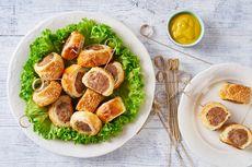 Resep Mini Sausage Roll, Sosis Gulung Renyah ala Inggris