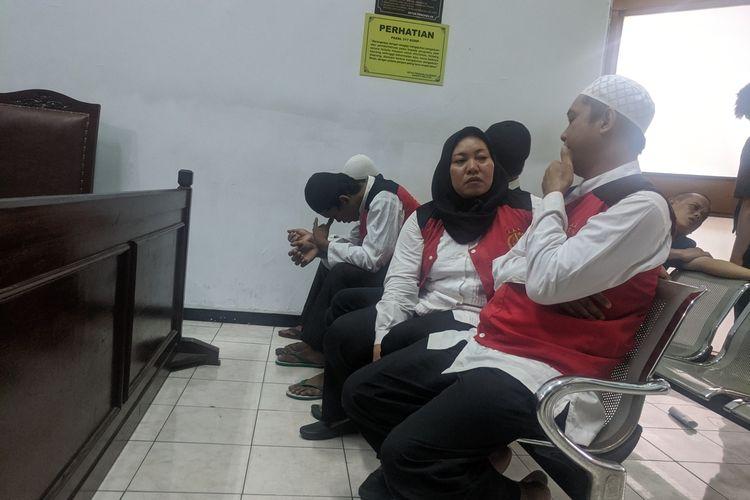 Sidang dua eksekutor pembunuh bayaran Aulia Kesuma di Pengadilan Negeri Jakarta Selatan, Kamis (12/3/2020)