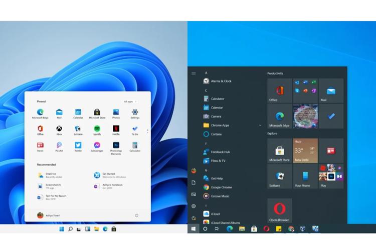Perbedaan Windows 11 dan Windows 10