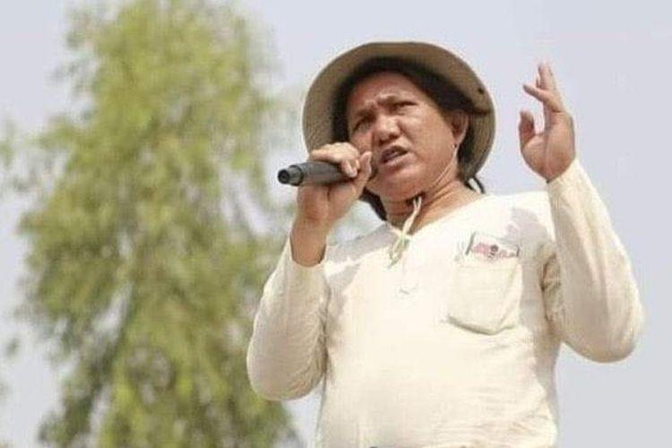 Penyair Myanmar Khet Thi, yang karyanya vokal menyuarakan perlawanan terhadap junta yang berkuasa, meninggal dalam tahanan pada Minggu malam (9/5/2021).