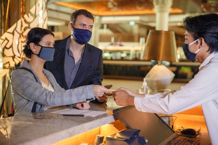 Ilustrasi turis bisnis