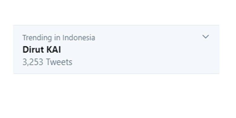 Trending #DirutKAI