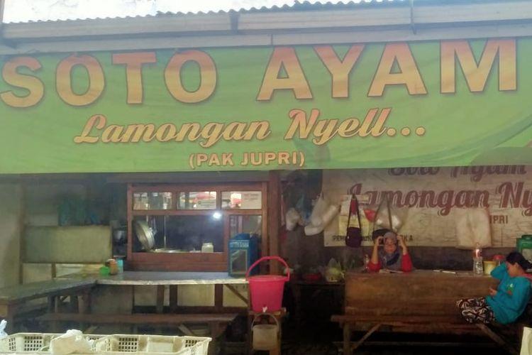 Kedai Soto Lamongan Nyeel Pak Jupri di Sidoarjo.
