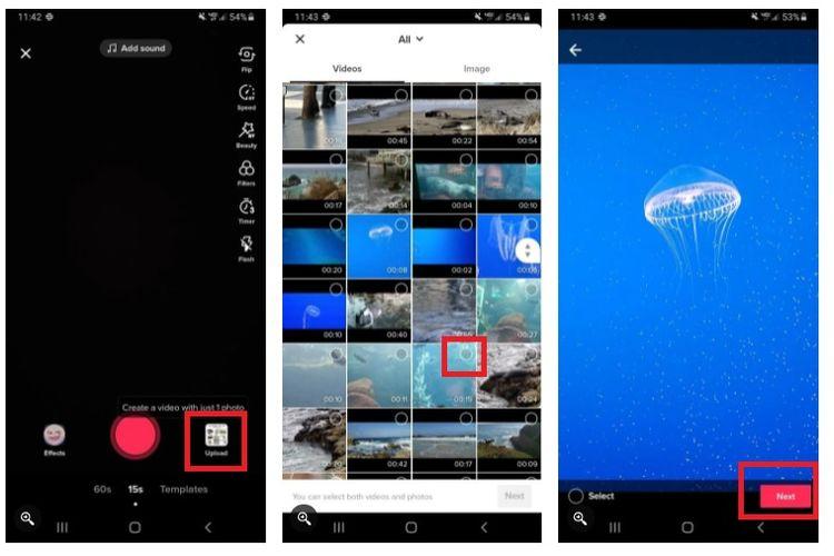 Cara mengunggah video dari galeri ponsel ke aplikasi TikTok