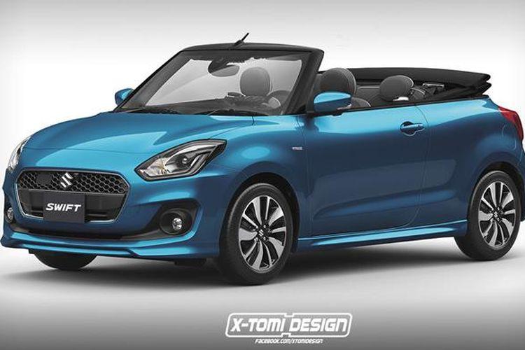 Modifikasi Suzuki Swift generasi baru dengan atap terbuka.