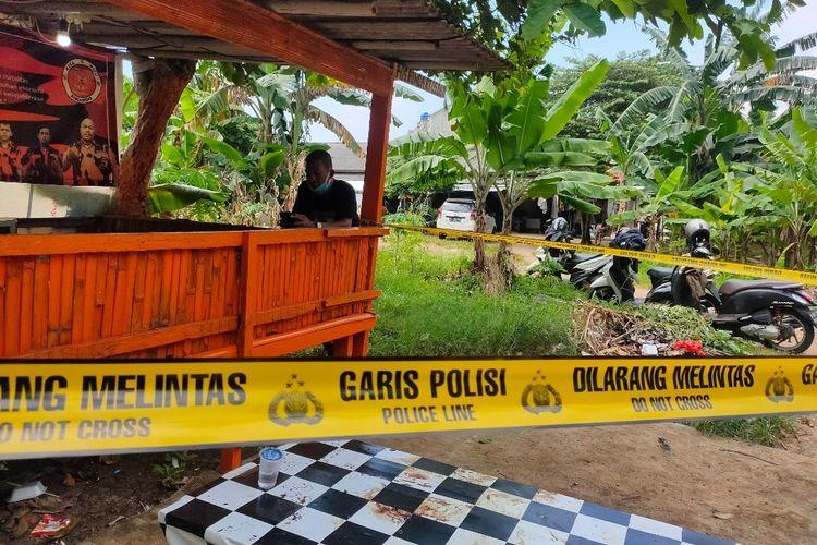 Lokasi penyerangan dua remaja oleh sekelompok orang tidak dikenal di Kawasan Rengas, Ciputat Timur, Tangerang Selatan, Senin (1/3/2021).