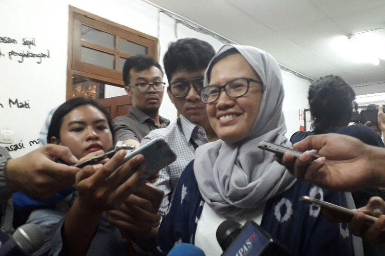 Koordinator KontraS Yati Andriani dalam konferensi pers di Kantor KontraS, Selasa (20/8/2019).