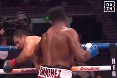 Hasil Tinju Dunia - Frank Sanchez Menang KO, Pukul Lawan sampai Keluar Ring