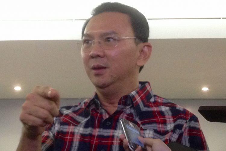 Gubernur DKI Jakarta nonaktif Basuki Tjahaja Purnama (Ahok) di Gedung Megawati Institute, Menteng, Jakarta Pusat, Rabu (22/3/17).