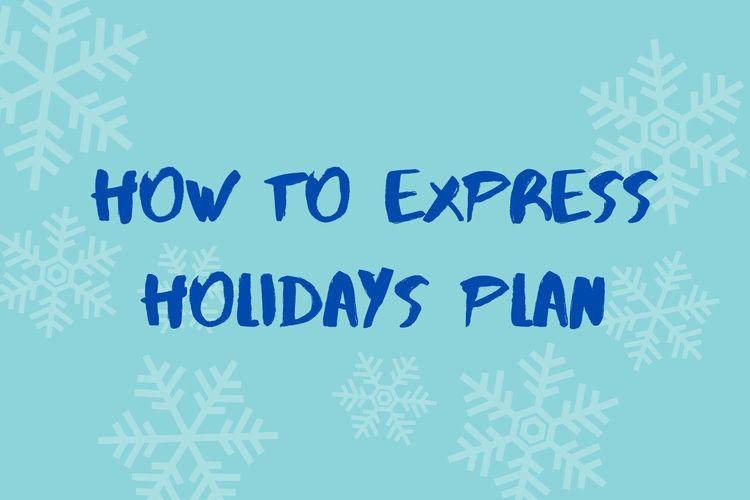 Ilustrasi teks rencana liburan dalam bahasa Inggris (how to express holiday plan).