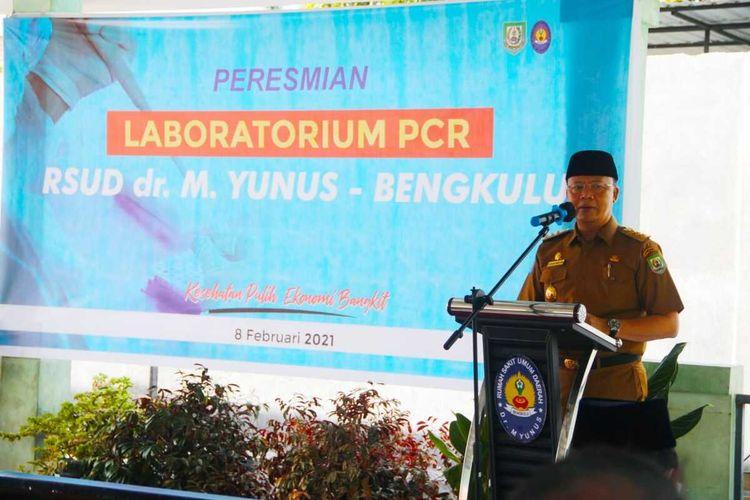 Gubernur Bengkulu, Rohidin Mersyah resmikan PCR di RSUD M. Yunus