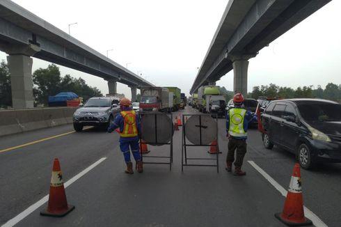 Ada Perbaikan Jembatan, Buka Tutup Lajur KM 41 Tol Japek Diberlakukan