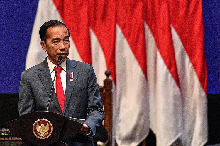 Presiden Joko Widodo menyampaikan pengarahan dalam Sidang Pleno Istimewa Laporan Tahunan Mahkamah Agung Tahun 2019 di Jakarta Convention Center, Jakarta, Rabu (26/2/2020). ANTARA FOTO/Sigid Kurniawan/hp.