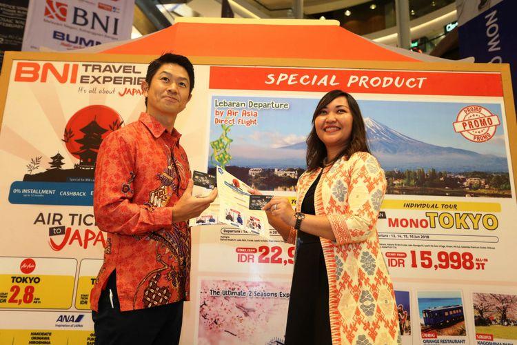 Konferensi Pers acara BNI Travel Experience dengan tema Its All About Japan, yang akan digelar pada 16-18 Februari 2018 di Mall Kota Kasablanka, Jakarta, Kamis (15/2/2018).