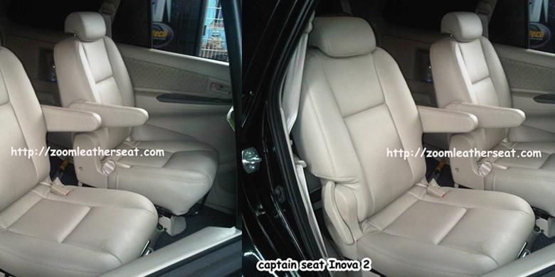 Captain Seat Toyota Innova yang dibuat oleh Zoom Leather Seat
