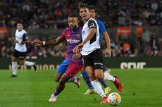 Babak I Barcelona Vs Valencia, Barca Unggul 2-1 berkat Gol Penalti Memphis Depay