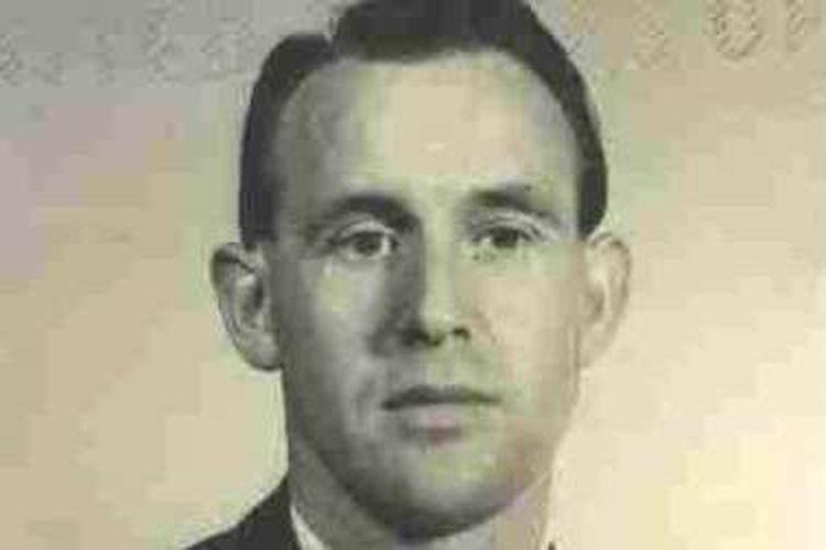Friedrich Karl Berger, 95 tahun, digambarkan dalam foto 1959 yang dirilis oleh Departemen Kehakiman AS, telah diperintahkan untuk dikeluarkan dari AS karena pekerjaannya di kamp konsentrasi Nazi.